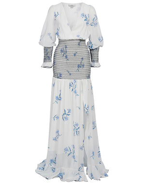 HAVANA MAXI DRESS IN IVORY IRIS