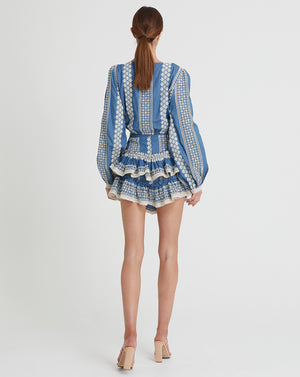 GEORGIA MINI SKIRT IN INDIGO