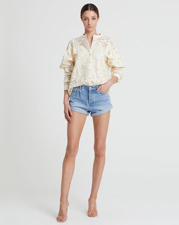 GEORGIA BLOUSE IN SHELL