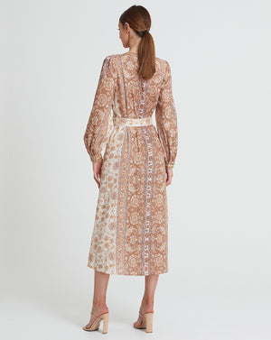 VIVIENNE LINEN MIDI DRESS IN DAWN