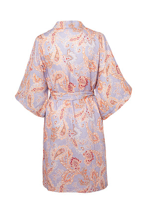 VIVIENNE ROBE IN WISTERIA PAISLEY