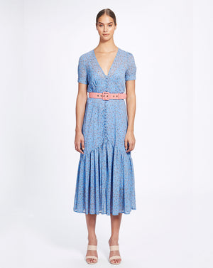MARSEILLE MIDI DRESS IN CORNFLOWER DITSY