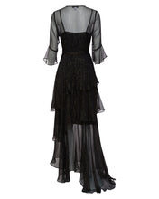 ARABELLA SILK MAXI DRESS IN BLACK