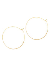 HAMMERED ROUND HOOPS BY PETITE GRAND