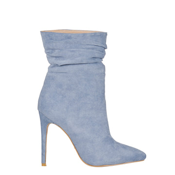 NATOMA BOOTIES IN STEEL BLUE SUEDE