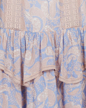 SORRENTO MAXI SKIRT IN CORNFLOWER PAISLEY