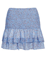 AMALFI MINI SKIRT IN CORNFLOWER PAISLEY