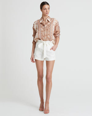 VIVIENNE LINEN SHIRT IN DAWN