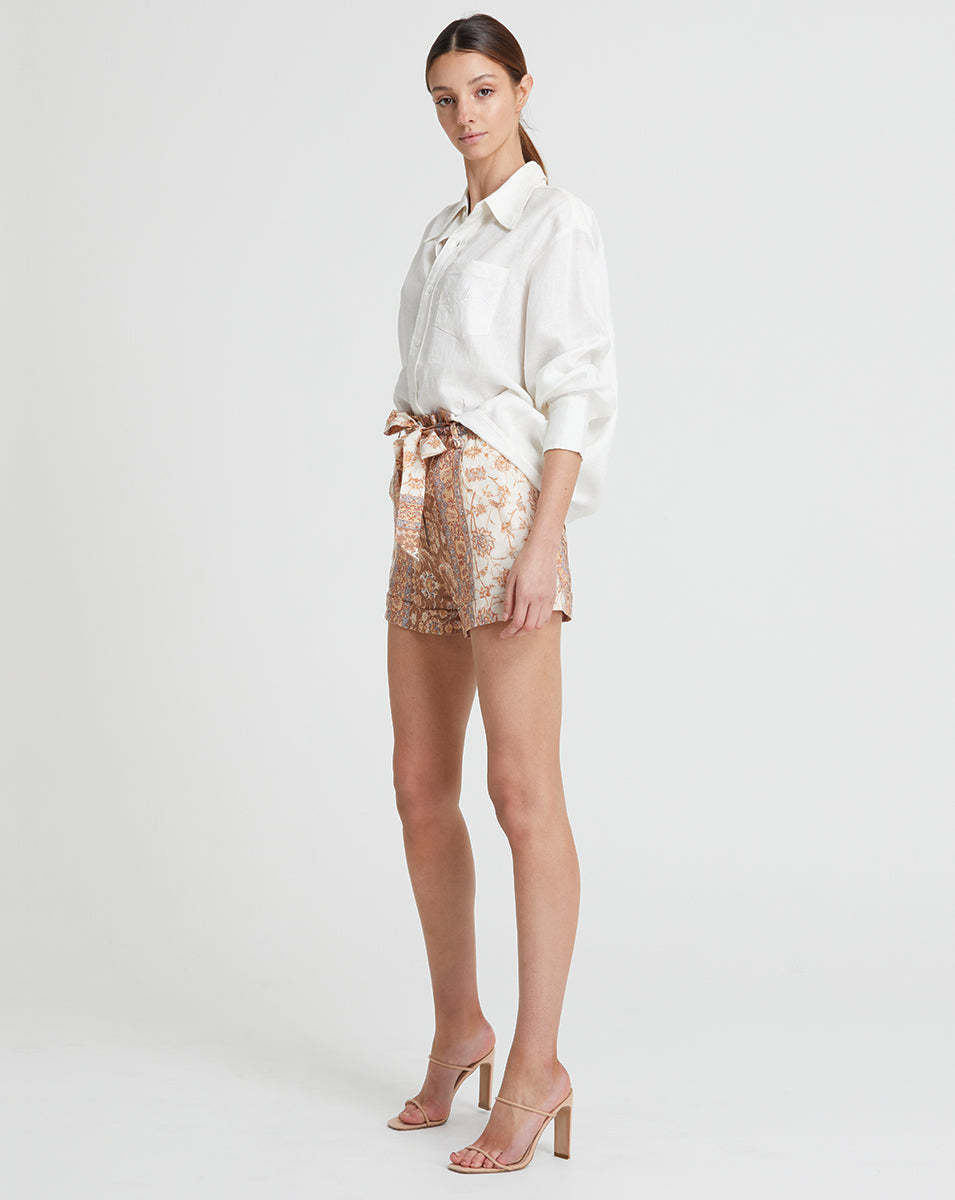 VIVIENNE LINEN SHORTS IN DAWN