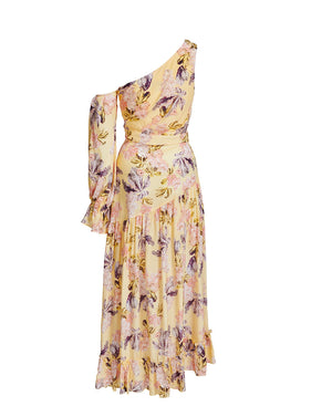 RAYE MAXI DRESS IN LEMON BLOSSOMS