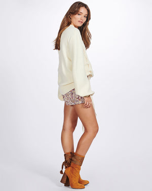 MIMI KNIT PULLOVER - IVORY