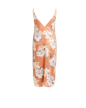 FRENCHIE SLIP DRESS - PEACH BLOSSOM