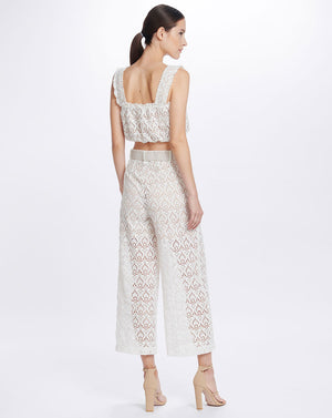 ROMILY WIDE LEG PANTS IN IVORY