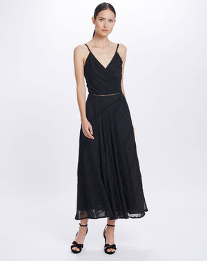 COCO SLEEVELESS MAXI DRESS IN BLACK LILY