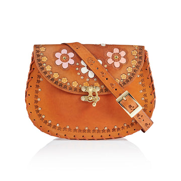 Tiggy Flower Child Hobo Cognac bag, Tiggy by Cuddington