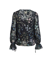 AMBROSIA  BLOUSE IN BLACK BLOOMS