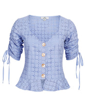 VIENNA BLOUSE IN CORNFLOWER