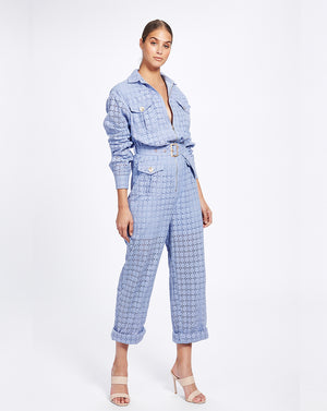 VIENNA BOILERSUIT IN CORNFLOWER