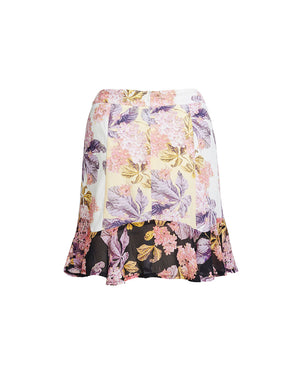 ISADORA SPLICED MINI SKIRT IN SPLICED