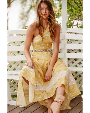 SORRENTO MIDI DRESS IN SUNFLOWER PAISLEY