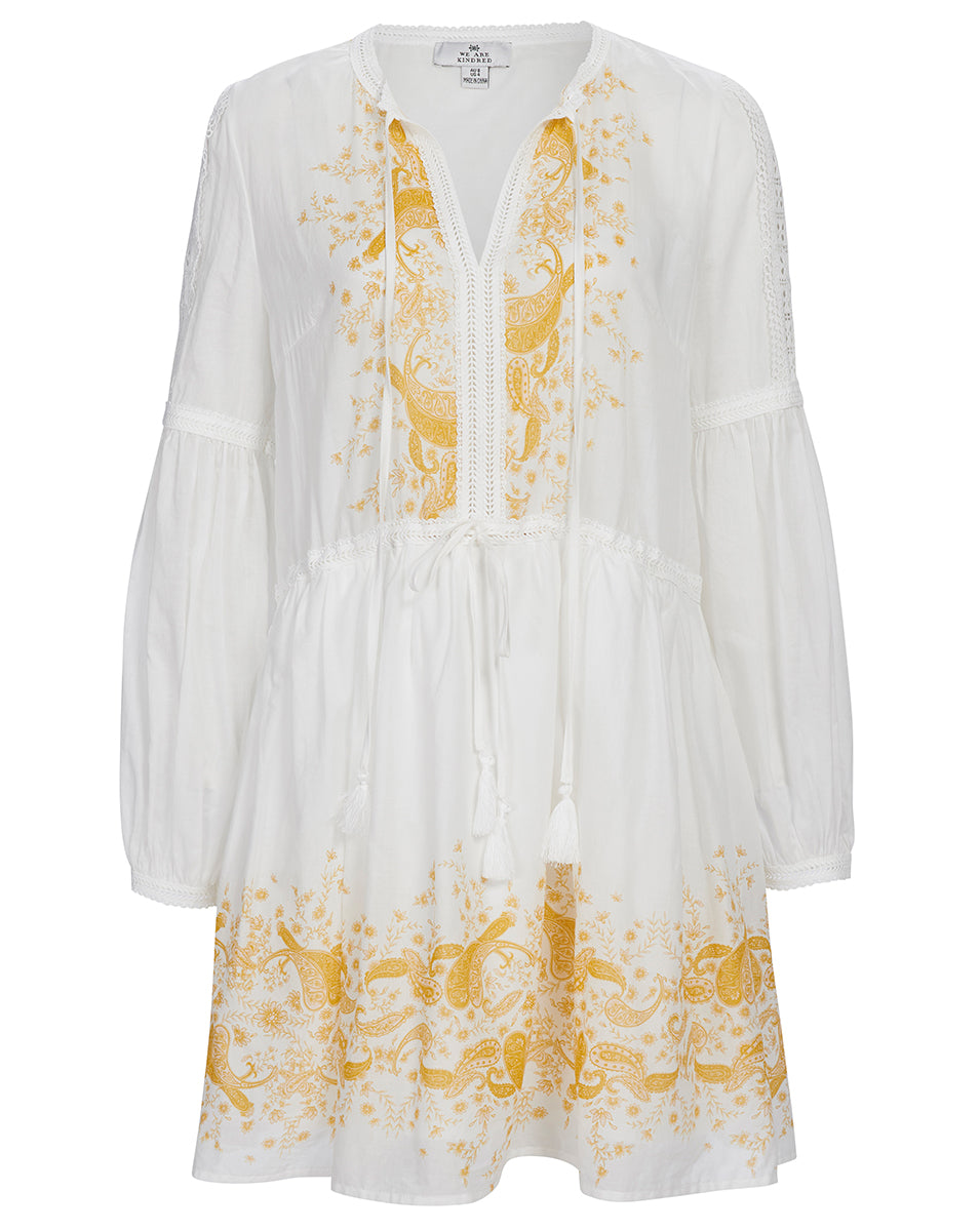 TROPEZ DAY DRESS IN SUNSET PAISLEY