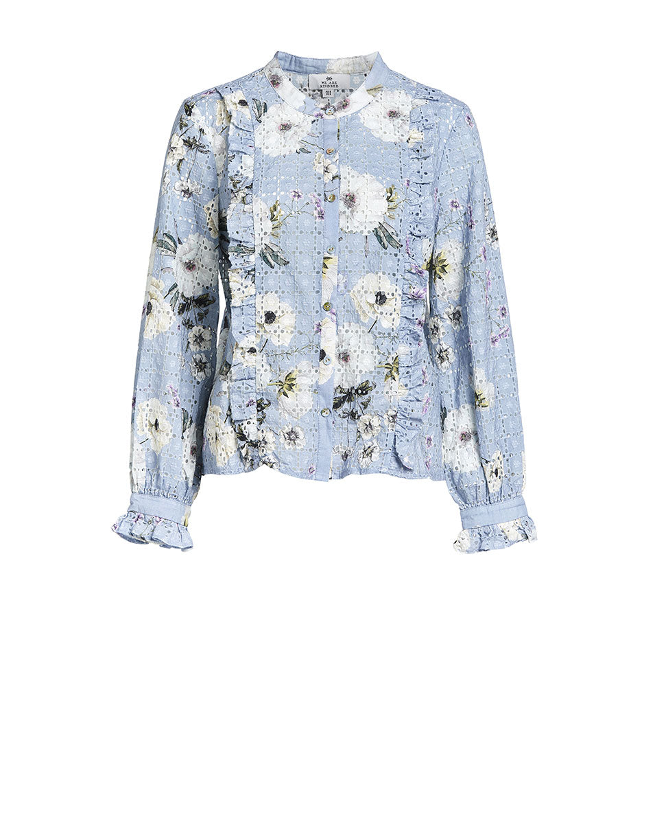 SOOKIE BLOUSE - CORNFLOWERS - BROIDERIE