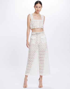 ROMILY CROP TOP - IVORY