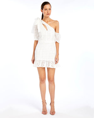 SOOKIE ASYMMETRIC DRESS - BROIDERIE WHITE