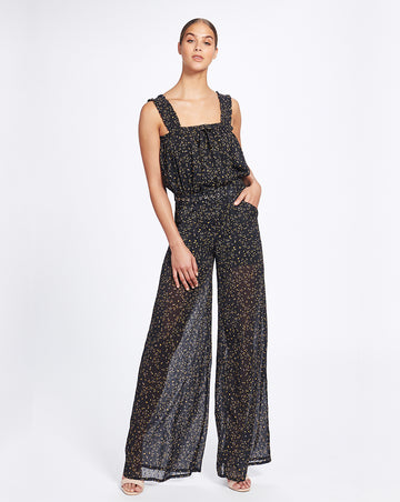 MARSEILLE JUMPSUIT IN NOIR DITSY