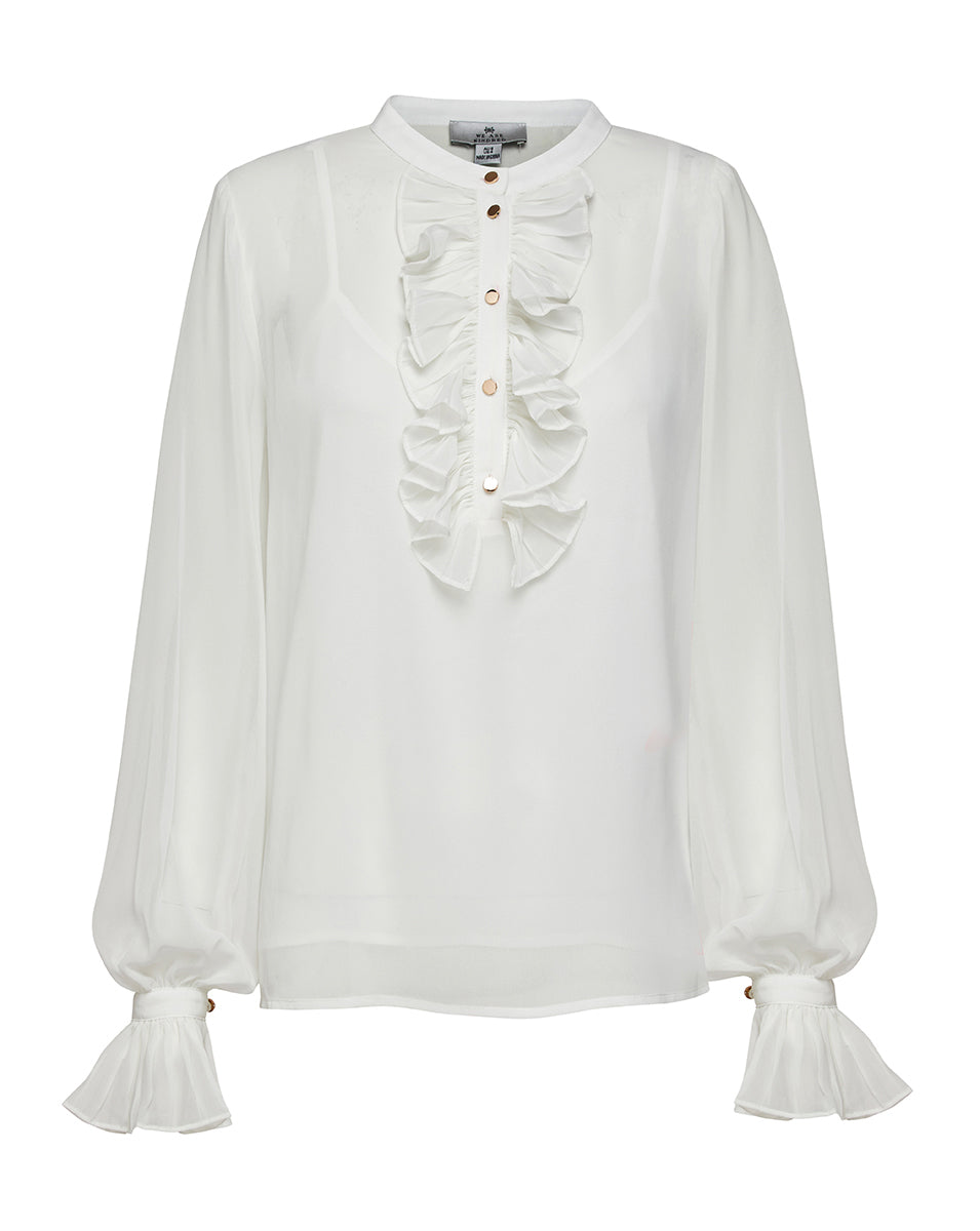 FRANKIE PLEATED BLOUSE IN IVORY