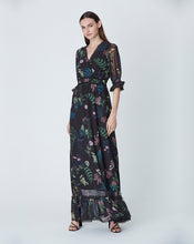 FRANKIE MAXI DRESS IN BLACK DELPHINIUM