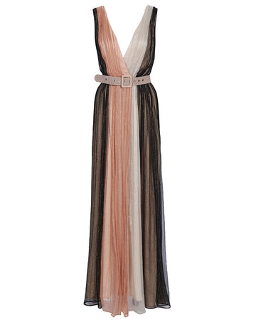 MARRAKECH SLEEVELESS DRESS IN ECLIPSE