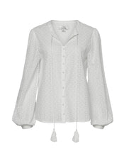 HAZEL COTTON BLOUSE IN WHITE