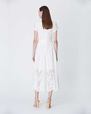 LOLA HIGH NECK DRESS IN IVORY