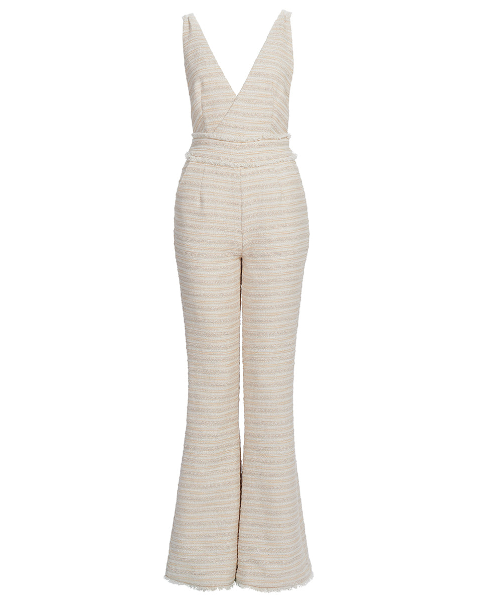 FLORENCE OPEN BACK JUMPSUIT IN NATURAL