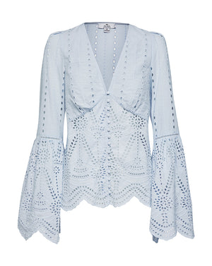 LOLA BLOUSE IN SKY