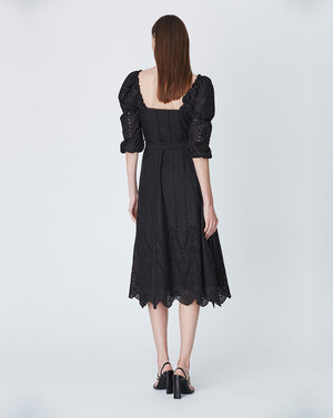 LOLA OFF SHOULDER DRESS IN BLACK