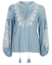 POSITANO BLOUSE IN CORNFLOWER FILIGREE