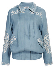 POSITANO JACKET IN CORNFLOWER FILIGREE