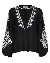 POSITANO BLOUSE IN NOIR FILIGREE