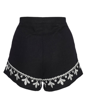 POSITANO SHORTS IN NOIR FILIGREE