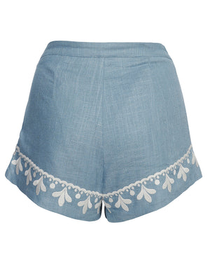 POSITANO SHORTS IN CORNFLOWER FILIGREE