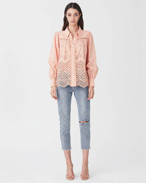 LUA BLOUSE IN CORAL