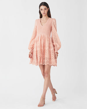 LUA MINI DRESS IN CORAL