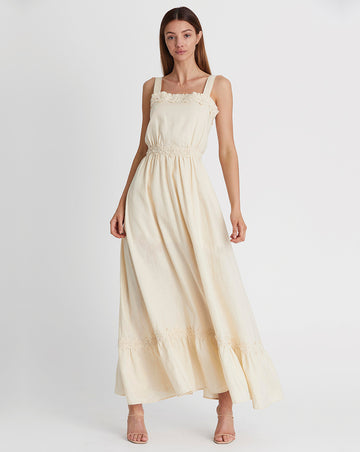 MARLY MAXI DRESS IN WHEAT