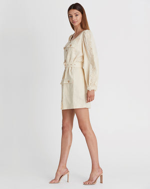 MARLY UTILITY MINI DRESS IN WHEAT