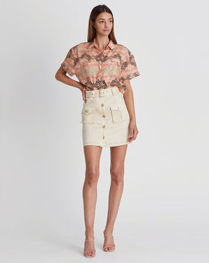 MARLY MINI SKIRT IN WHEAT