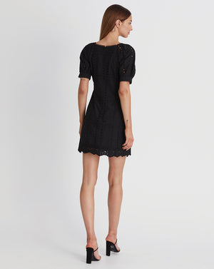 SARA MINI DRESS IN BLACK