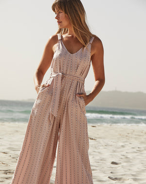 KINDRED HOLIDAY | JUMPSUIT IN PINK CHECK