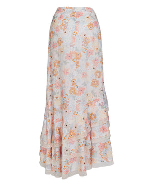 JESSA RUFFLE SKIRT IN SUNNY FLORAL